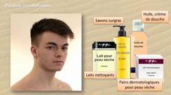 Comment l'homme doit bien nettoyer sa peau sèche