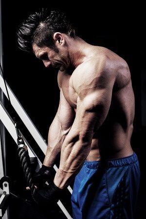 Musculation - poulie haute - triceps