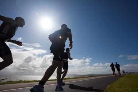 Triathlon préparation à l'effort de course à pied