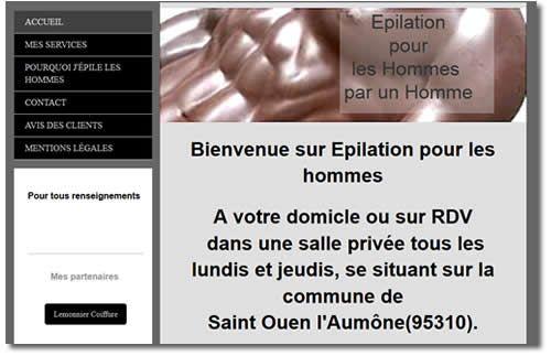 Epilation pour hommes - site internet Luc Lemonnier
