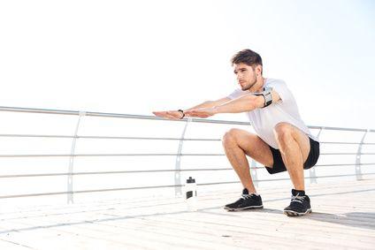 Remise en forme – musculation des cuisses – le squat
