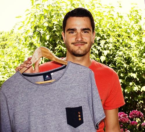 Clément Lacour, fondateur de LEAX qui fabrique des vêtements écoresponsables sincèrement fabriqués en FRANCE