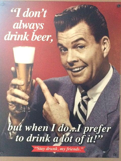 Affiche vintage de bières américaines