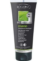 Logona – 1006shadou – Mann – Shampooing Gel Douche – 2 en 1 – 200 ml