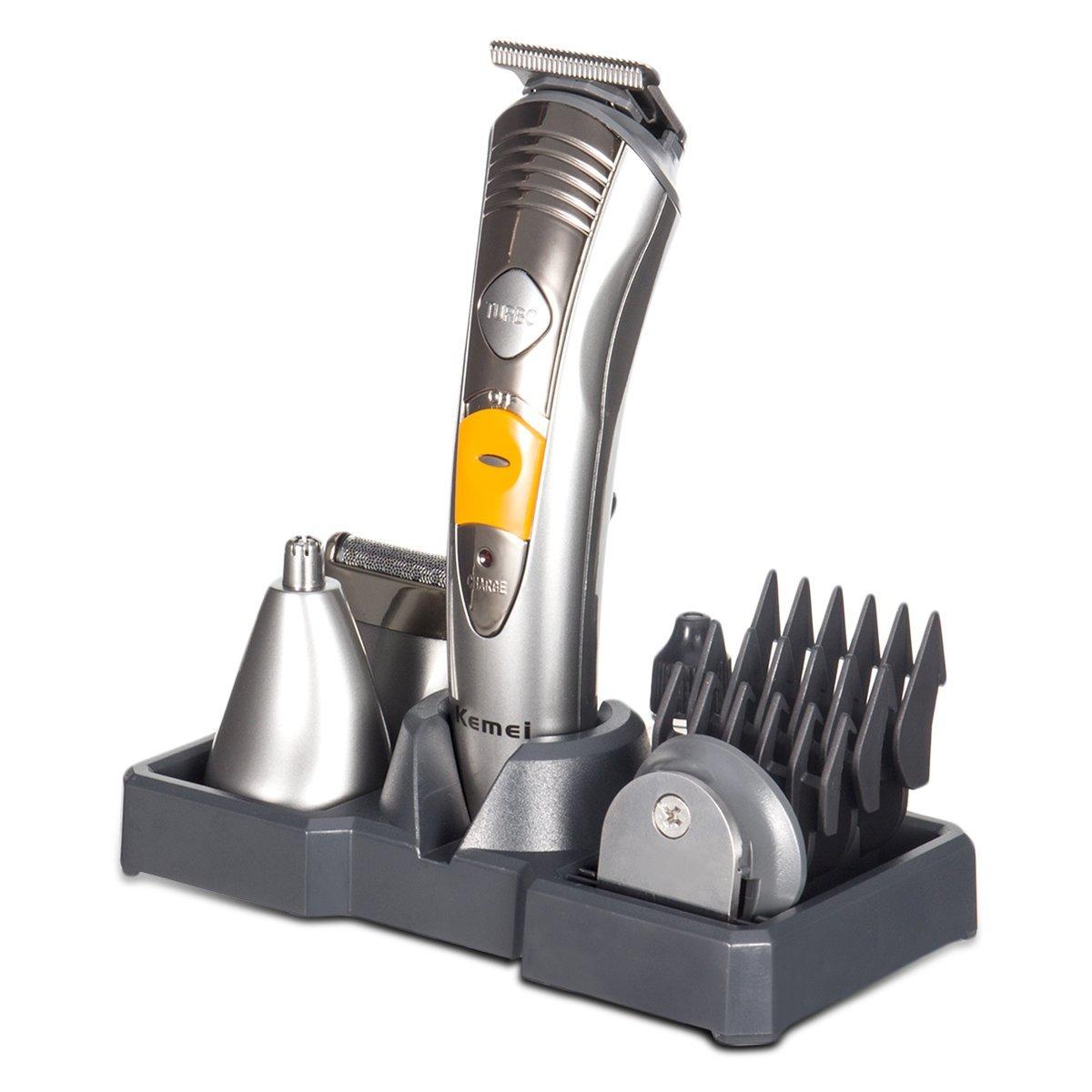 Sans fil Étanche Tondeuse Kit 7 en 1 Multi-Usage Tondeuses à cheveux Rechargeable Toilettage Kit Cheveux Barbe Nez