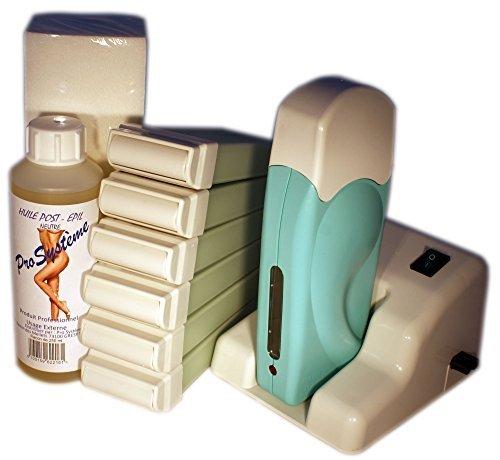 EPILWAX S.A.S – Kit D'Épilation Modulaire Complet À La Cire Jetable À L'Aléo Véra, avec Roulette Grand Modèle pour les jambes, aisselles, et le corps