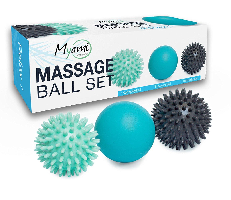 RELAX ! Set unique de 3 balles de massage différentes – Élimine les tensions et le stress Idéal pour masser les pieds, dos, épaules, bras…