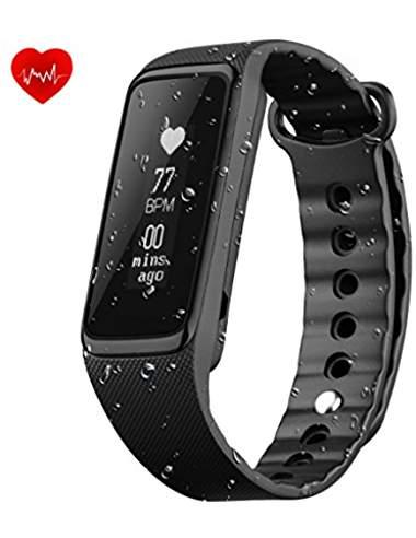 Tracker d'Activité OMorc Weloop Bracelet Connecté de Sport Cardiofréquencemètre Smart Bracelet d'Activité, Montre sport Podomètre Calories Sommeil – Bluetooth 4.0 Montre avec Écran OLED Etanche IP68 – Pour iPhone Android