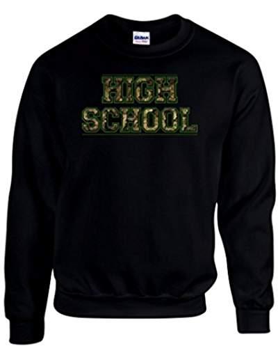 Pull molletonné  slogan High School