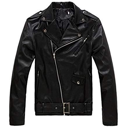 Blouson noir faux cuir