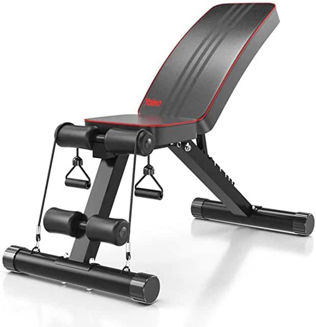 YOLEO Banc de Musculation Pliable Multifonction Sit-up Fitness Musculation Bras Gym Domicile